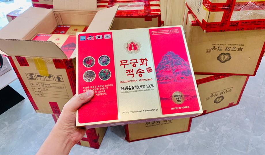 Với số lượng sản xuất hạn chế từ những cây thông đỏ Hàn Quốc 100 năm tuổi